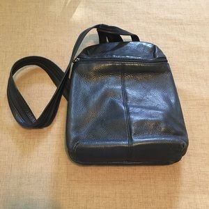 Tignanello Black Backpack Bag Small Leather